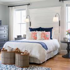 country beach style bedroom decor idea. Bedroom - Mid-sized Beach Style Master Light Wood Floor Bedroom Idea In  Portland Maine Country Decor C