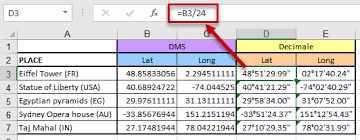 How To Convert Coordinates Latitude And Longitude With Excel
