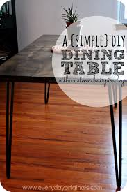 Hairpin dining table Hairpin Leg Everyday Originals Our Finished Diy Dining Table with Hairpin Legs