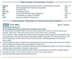 Nhs Resume Examples Cv Template Nhs Nursing Resume Template Nursing Resume