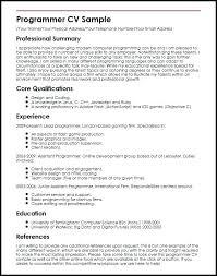 Sample Computer Programmer Resume Computer Programmer Resume Examples Blaisewashere Com