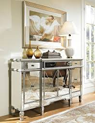 mirror console table. Amazon.com: 60\u201d Mirrored Reflection Andrea Hall Console Cabinet Model DH-695: Kitchen \u0026 Dining Mirror Table