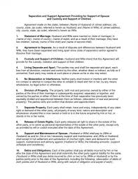 Download Our Sample Of Custody Agreement Template Top Template