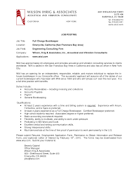 pleasing bookkeeper cover letter - Full Charge Bookkeeper Resume Sample