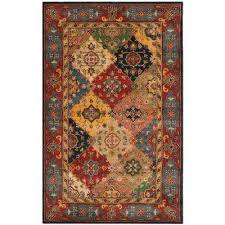 heritage red multi 5 ft x 8 ft area rug
