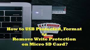 remove write protection