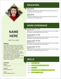 Template Microsoft Cv Templates Free Modern Resume