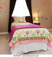kids bed clip art. Plain Art Baby Girl Kids Bedroom Interior With Pink Bed And Brown Walls With Kids Bed Clip Art O