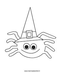 Halloween Disegno Ragno Da Colorare Mamma E Bambini