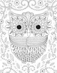 Small Picture Big Eyed Owl Adult Coloring Page FaveCraftscom