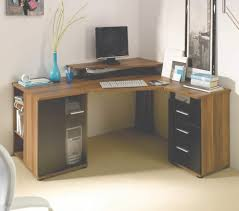 modern corner office desk. Modern Corner Office Desk : With Shelves And \u2026 Pertaining To R