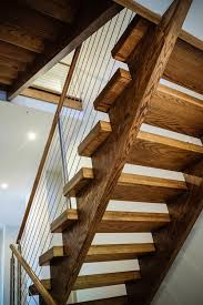 Modern Open Rise Stairs, Cable Railing System