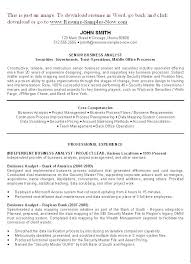 Summary Section Of Resume Examples Resume Sample Source