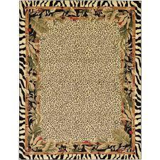 unique loom wildlife cream 9 x 12 rug