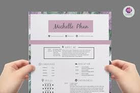 modern resume template resume templates on creative market