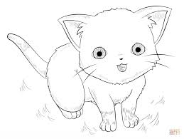Anime Cat Coloring Page Free Printable Coloring Pages