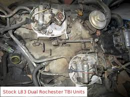 1982 1984 l83 5 7 liter cross fire injection v8 love it or chevrolet decided the 1982 corvette would come standard tbi equipped 5 7 liter v8 and the camaro z28 would have as its optional engine