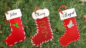 Handmade Christmas Stockings Easy Christmas Stocking Craft Youtube
