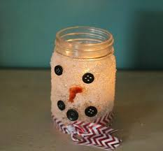 Decorated Candle Jars Snowman Candle Jar Craft Family Focus Blog 45