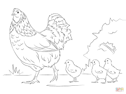 Small Picture Hen and Cute Chicks coloring page Free Printable Coloring Pages
