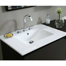 31 inch vanity top with sink. Interesting With Ryvyr CST310WT 31 Inch Vitreous China Vanity Top With Square Bowl  White Sink 2