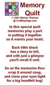 242 best Quilt labels images on Pinterest | Tags, Comics and ... & Discover and share Memory Quilt Quotes. Explore our collection of  motivational and famous quotes by authors you know and love. Adamdwight.com