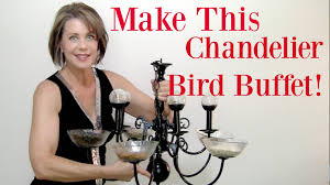 how to make a chandelier bird feeder with heather bloom