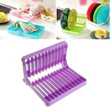 wooden folding dish drying rack roll up drainer over sink with 1 popup wall mounted folding