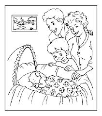 Familie Kleurplaat Met Baby