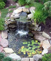 Backyard Ponds Landscaping And Outdoor Building Relaxing Waterfalls Backyard
