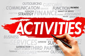 Activities Word Activities Word Cloud Business Concept Stock Photo Picture And