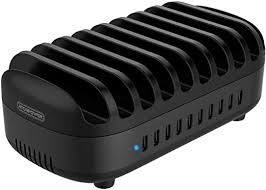 10 Ports Charging Station for Multiple Devices ... - Amazon.com