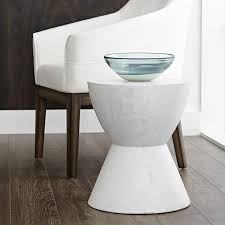 logan end table white mixt a sculptural round end table designed for contemporary