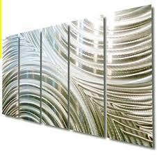 ultra modern metal wall art 5 panels
