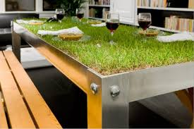environmentally friendly furniture. Green Furniture - Eco-friendly Picnic Table Made With A Grass Top. Environmentally Friendly