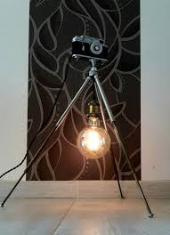 70s Tripod Antique Floor Lamp With Camera Dimmer Id Lights