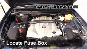 replace a fuse 2004 2009 cadillac srx 2007 cadillac srx 4 6l v8 locate engine fuse box and remove cover