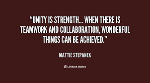 Quotes About Unity Simple Quotes About Strength In Unity 48 Quotes