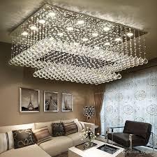 rectangular flush mount kitchen light elegant modern contemporary remote led crystal chandeliers with led lights for living room rectangular flush mount