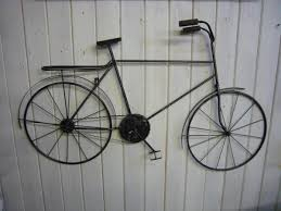 bicycle wall sculpture art