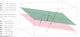 parallel planes. name the green plane two different ways. 2. pink plane. 3. what is intersection of line bh and ag? 4. are points g h collinear? 5. parallel planes