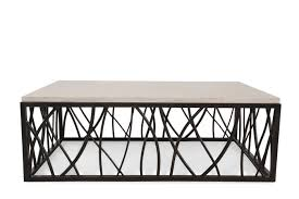 Iron And Stone Coffee Table Hooker Stone Iron Rectangle Cocktail Table Mathis Brothers Furniture
