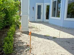 preparing to set a stone path