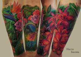 цветы колибри тату на предплечье у девушки добавлено анастасия