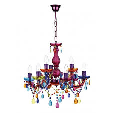 trendy lighting with colorful chandeliers