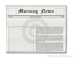 Custom Newspaper Template Newspaper Headline And Photo Template