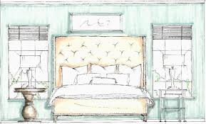 interior design bedroom drawings. Contemporary Drawings Bedroom Idea Drawing  Design Sketches  Sketch With Interior Drawings E