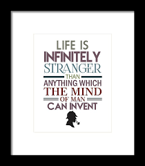 Sherlock Holmes Quotes Fascinating Sherlock Holmes Quotes Framed Print By Studio Grafiikka