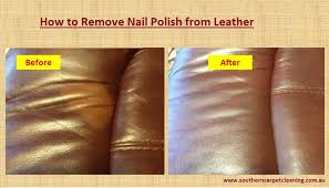 cleaning tips how to remove nail polish from leather