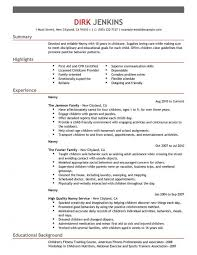 best nanny resumes best nanny resume example livecareer resume templates design for